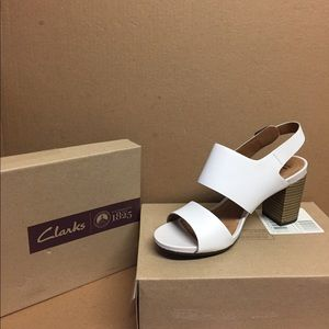 Clarks Collection Soft Cushion 8W White Wedge NEW